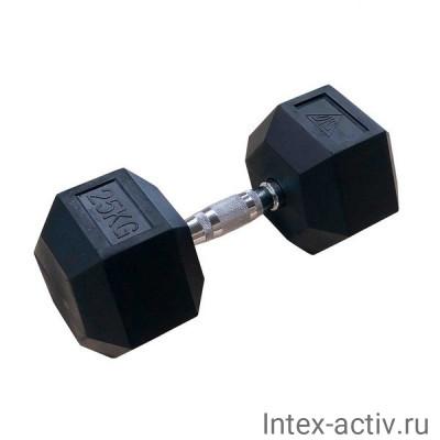 Гантели DFC DB001-25 (2 шт) гексагональные обрезиненные 25 кг
