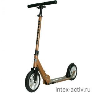 Самокат BIBITU DIRT SKL-037, надувные колеса, коричневый