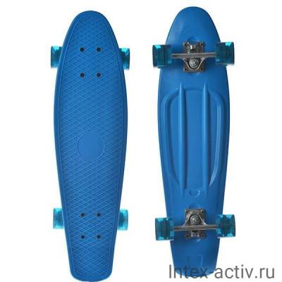 "Скейтборд пластиковый Action PW-515 27""x7,5"""