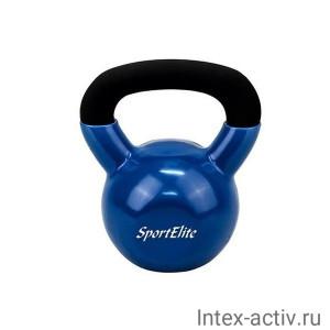 Гиря чугунная для кроссфита обрезиненная Sport Elit 24 кг