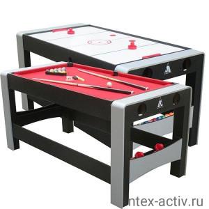 """Игровой стол - аэрохоккей/бильярд DFC """"FERIA"""" 2 в 1"""