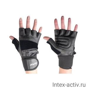 Перчатки атлетические STARFIT SU-125 черные р.XL