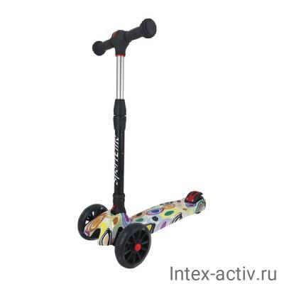 Самокат 4-х колесный SportElite SE610 граффити