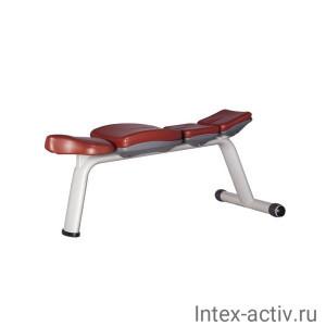 Скамья горизонтальная Bronze Gym H-036A (коричневый)
