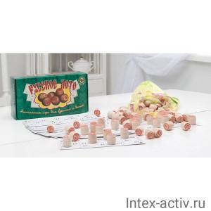 """""""Русское лото"""" в зеленой картонной коробке 004-07"""