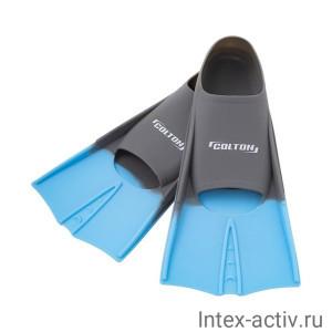 Ласты тренировочные Colton CF-01 р.30-32 серый/голубой