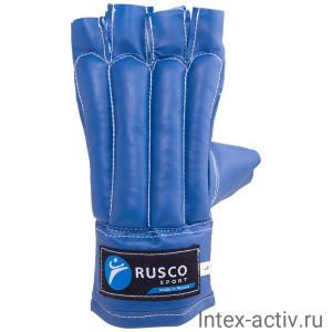 Перчатки снарядные, шингарды Rusco кожзам, синий р.XL