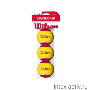 Мяч теннисный WILSON Starter Red арт.WRT137001 желто-красный