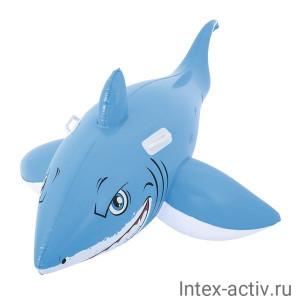 """Надувная игрушка-наездник Bestway 41032 """"Большая белая акула"""" с ручками"""