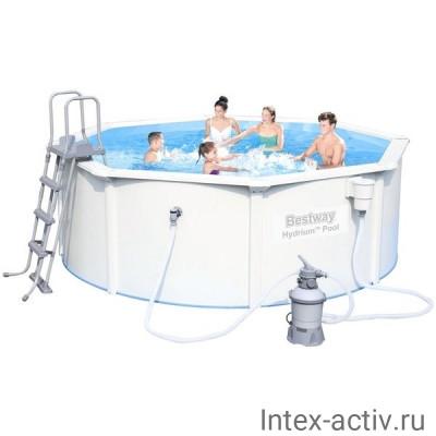 Стальной бассейн Bestway 56382 Hydrium Pool Set (460х120см)
