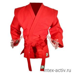 Куртка для самбо Green Hill Master арт.SC-550-48-RD р.48 красная