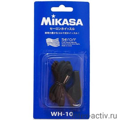 Свисток пластмассовый с шариком MIKASA WH-10BK черный