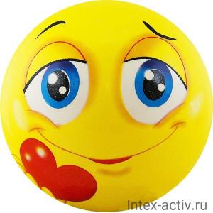 Мяч детский Funny Faces арт.DS-PP 207 12 см, желтый