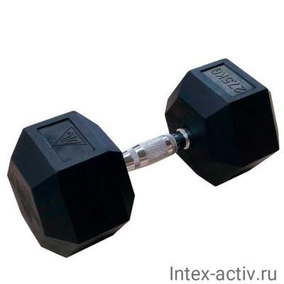 Гантели DFC DB001-27.5 (2 шт) гексагональные обрезиненные 27.5 кг
