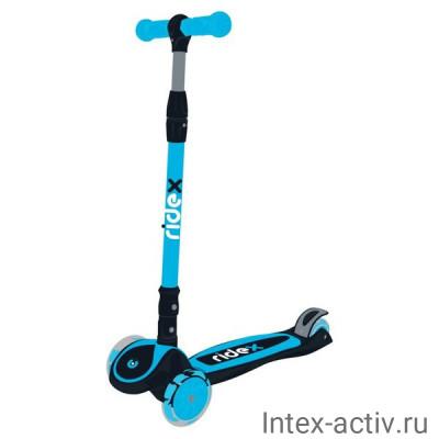 Самокат 3-х колесный Ridex 3D Tiny Tot 120/80 мм, голубой