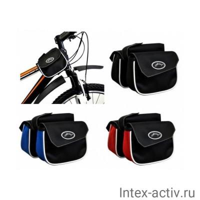 Велосумка на раму компакт (черный/красный) ВС13-05