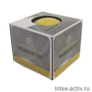 Медбол Lite Weights 1701LW 1кг (желтый)