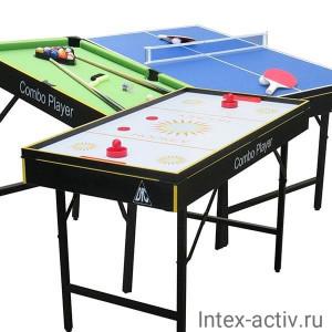 """Игровой стол - аэрохоккей/бильярд/теннис DFC """"SMILE"""" 3 в 1"""