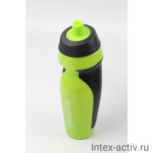 Бутылка спортивная В-410 600 мл, салатовый/черный