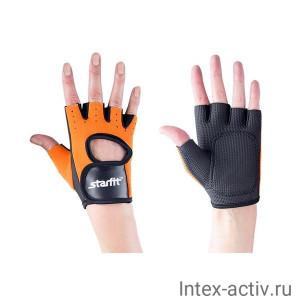 Перчатки для фитнеса STARFIT SU-107 оранжевые/черные р.M