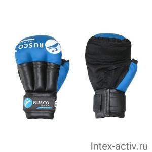 Перчатки для рукопашного боя 6 унций синие Rusco