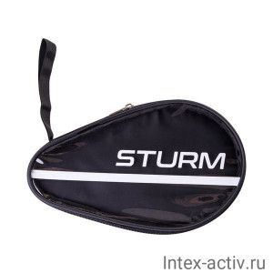 Чехол для ракетки для настольного тенниса CS-02, для одной ракетки, черный/прозрачный STURM