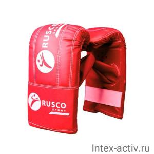 Перчатки снарядные Rusco, кожзам, красно-сине-черный р.L