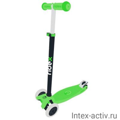 Самокат 3-колесный Ridex Snappy 2.0 3D 120/80 мм, зеленый