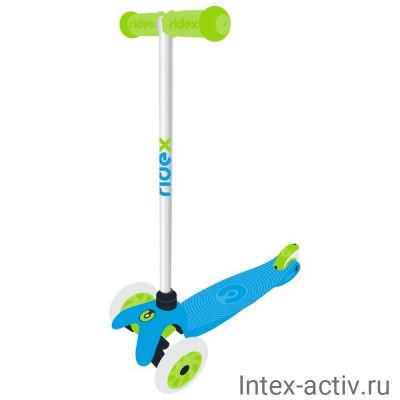Самокат 3-колесный Ridex Zippy 2.0 3D 120/80 мм, голубой