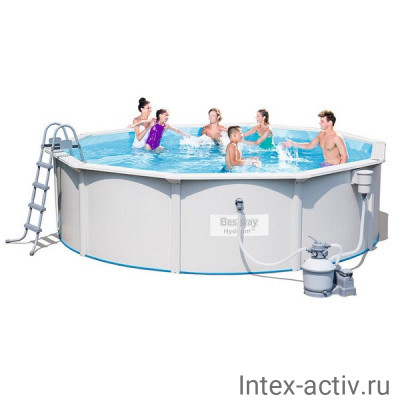 Стальной бассейн Bestway 56384 Hydrium Pool Set (460х120см)