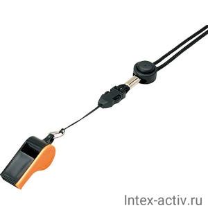 Свисток пластмассовый с шариком MIKASA WH-10BKO черно-оранжевый