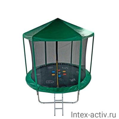 Батут SportElite HOME FR-30 10FT (3,05м) с защитной сеткой, крышей и лестницей