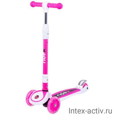 Самокат Ridex 3-колесный 3D Tiny Tot 120/80 мм, розовый