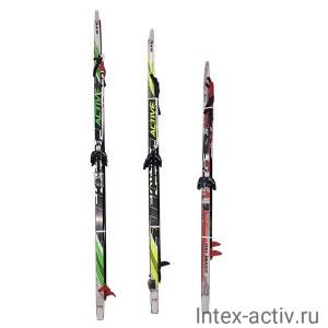 Лыжный комплект (лыжи+палки+крепл.75 мм) STEP длина 150