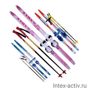 Детский лыжный комплект Sable (лыжи+палки+комбин.крепл.) длина 100