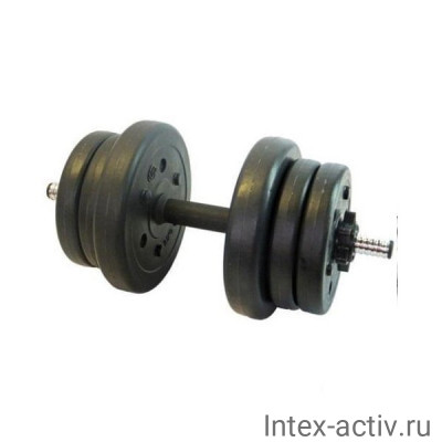 Гантели (2 шт) 10 кг в оболочке сборные Lite Weights 2327LW